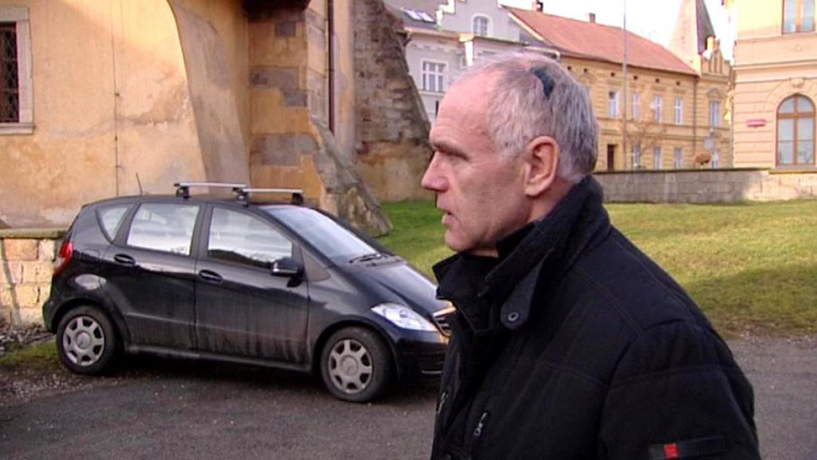 Napadený místostarosta Jan Bém (ODS)