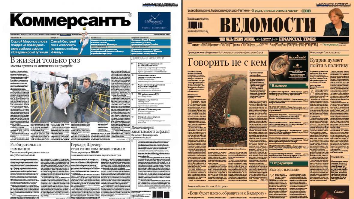 Ruský tisk 12. prosince 2011