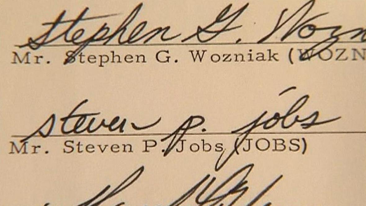 Podpis Steva Jobse