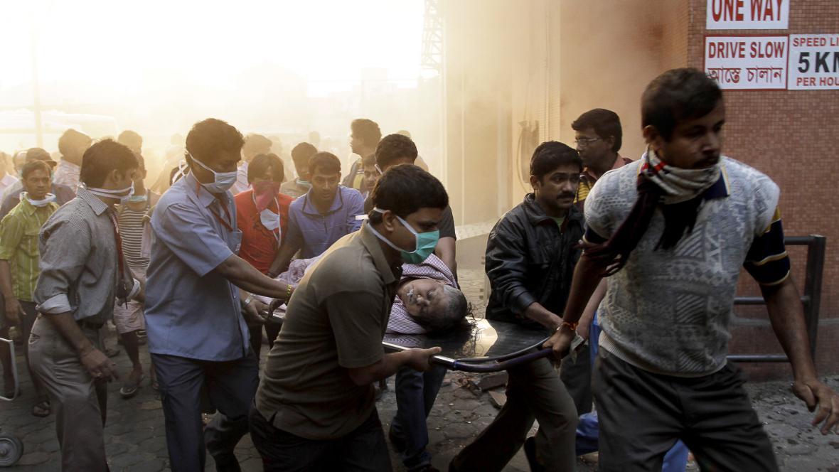 Požár pečovatelského domu v Kalkatě