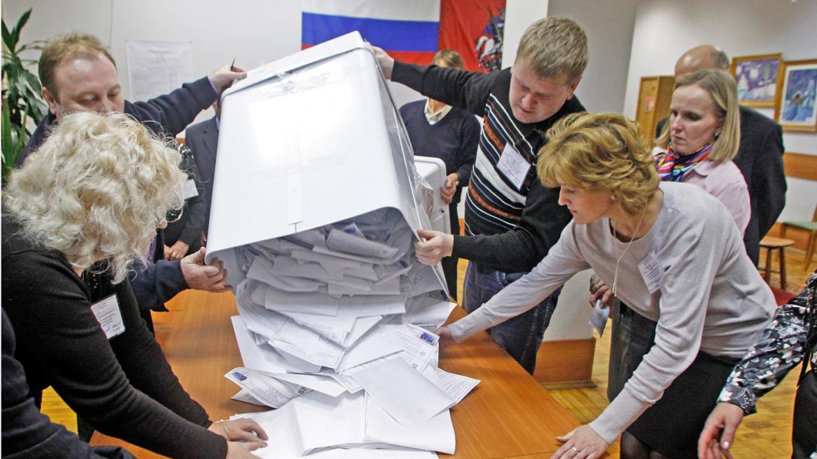 Sčítání hlasů v Rusku