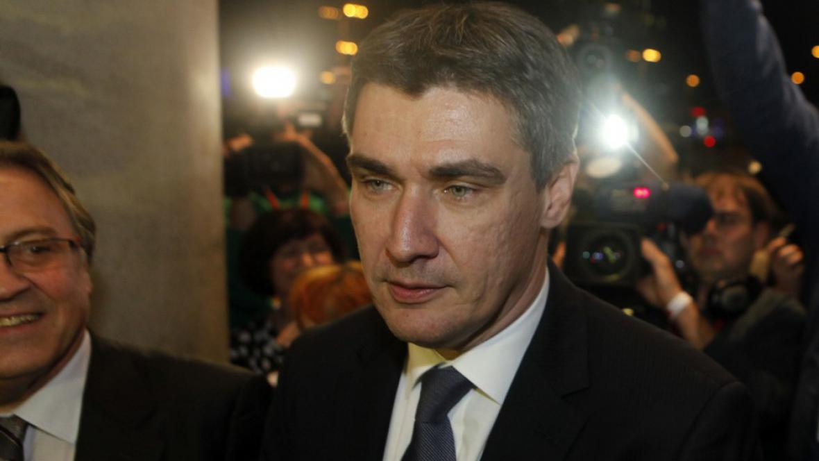 Lídr opozice Zoran Milanović - kandidát na premiéra
