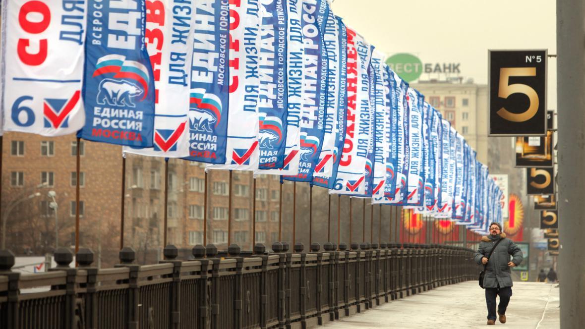 Předvolební kampaň v Rusku