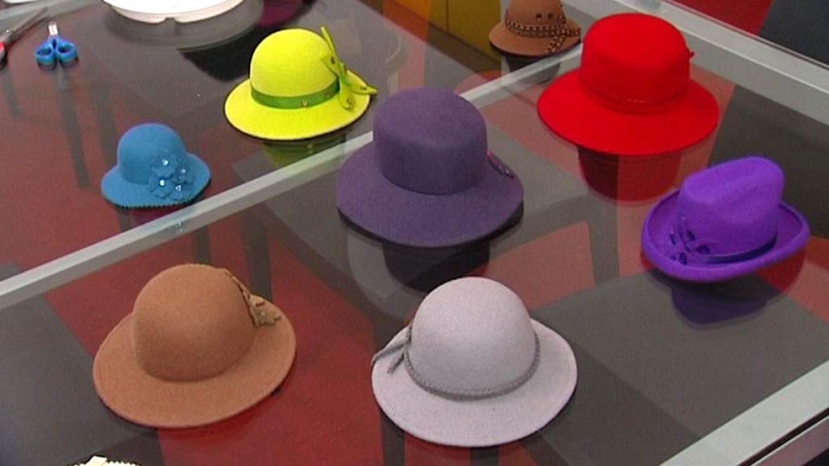 Expozice výroby klobouků v Novém Jičíne