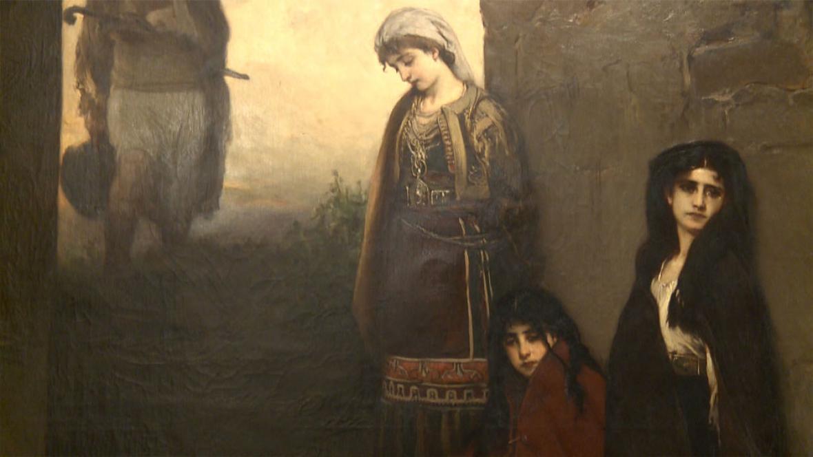 Jaroslav Čermák / Zajatkyně (detail)