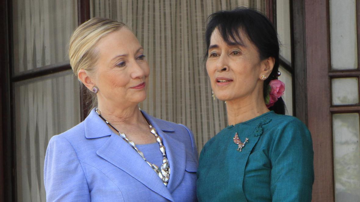 Hillary Clintonová a Su Ťij