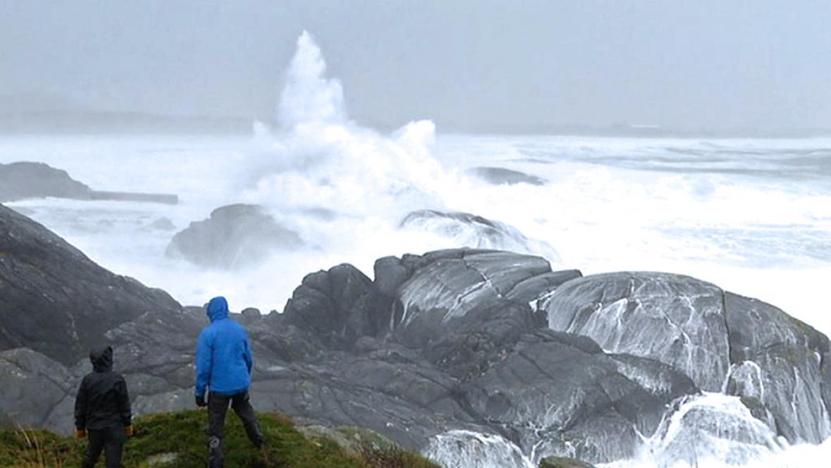 Bouře na severu Evropy