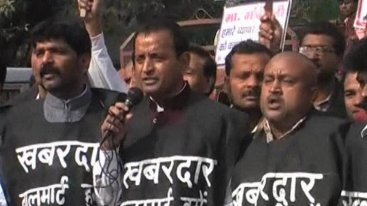 Protesty indických obchodníků
