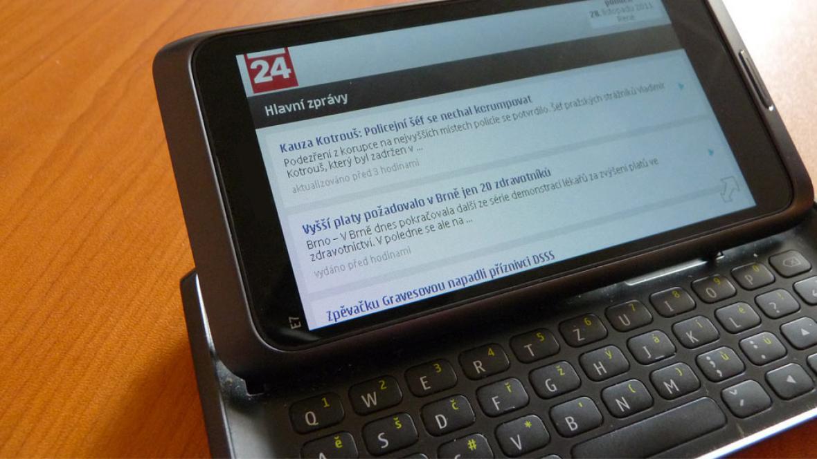 ČT24.cz na mobilu