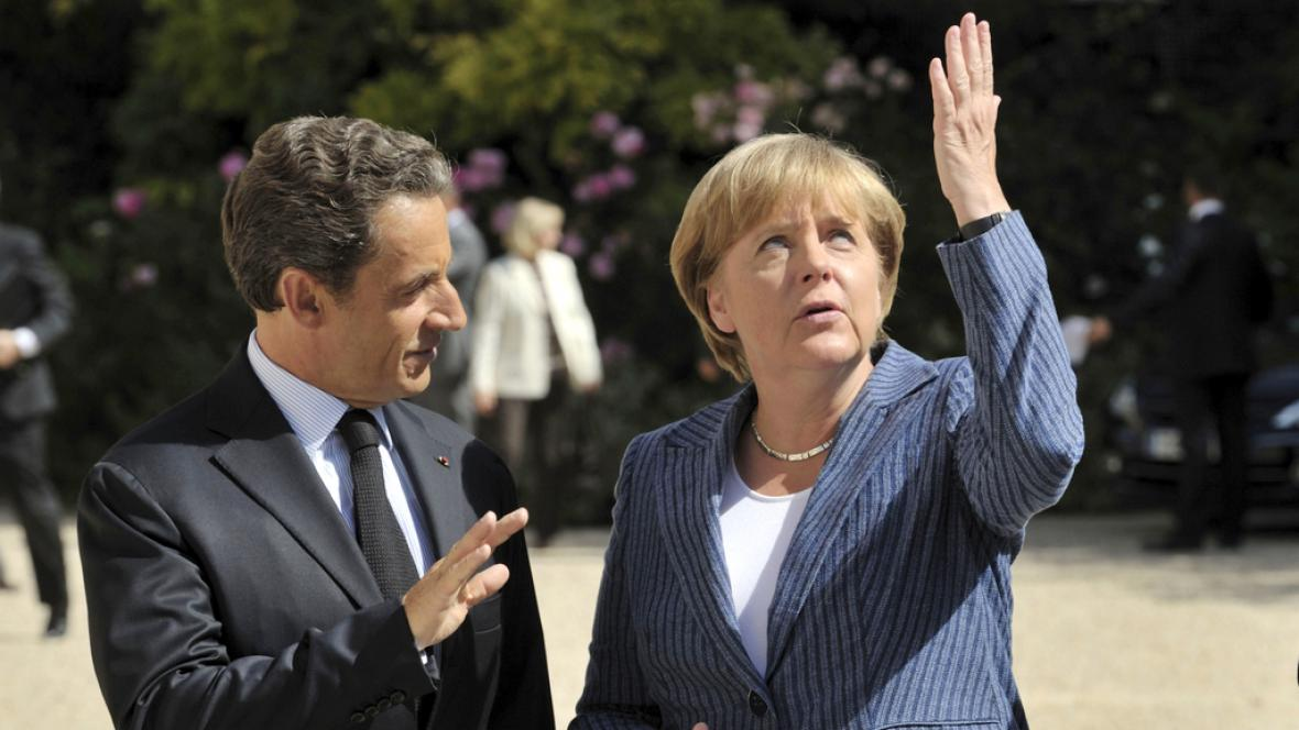 Nicolas Sarkozy a Angela Merkelová