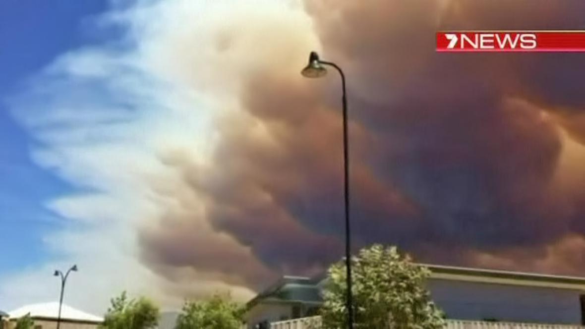 Požár v australském národním parku Leeuwin-Naturaliste