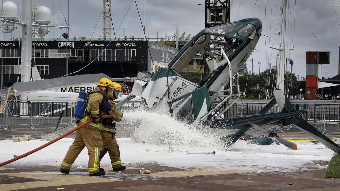 Nehoda vrtulniku v Aucklandu se obešla bez zranění