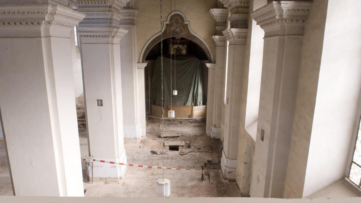 Kostel sv. Mikuláše prochází rekonstrukcí