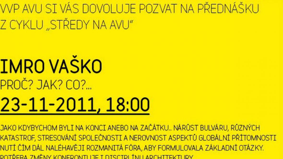 Středy na AVU / Imro Vaško