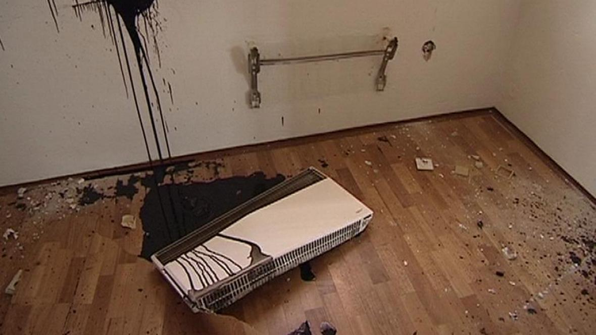 Zničený byt
