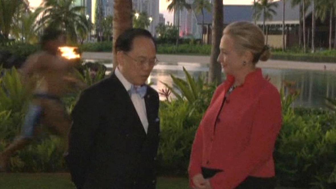 Hillary Clintonová při návštěvě Havajských ostrovů