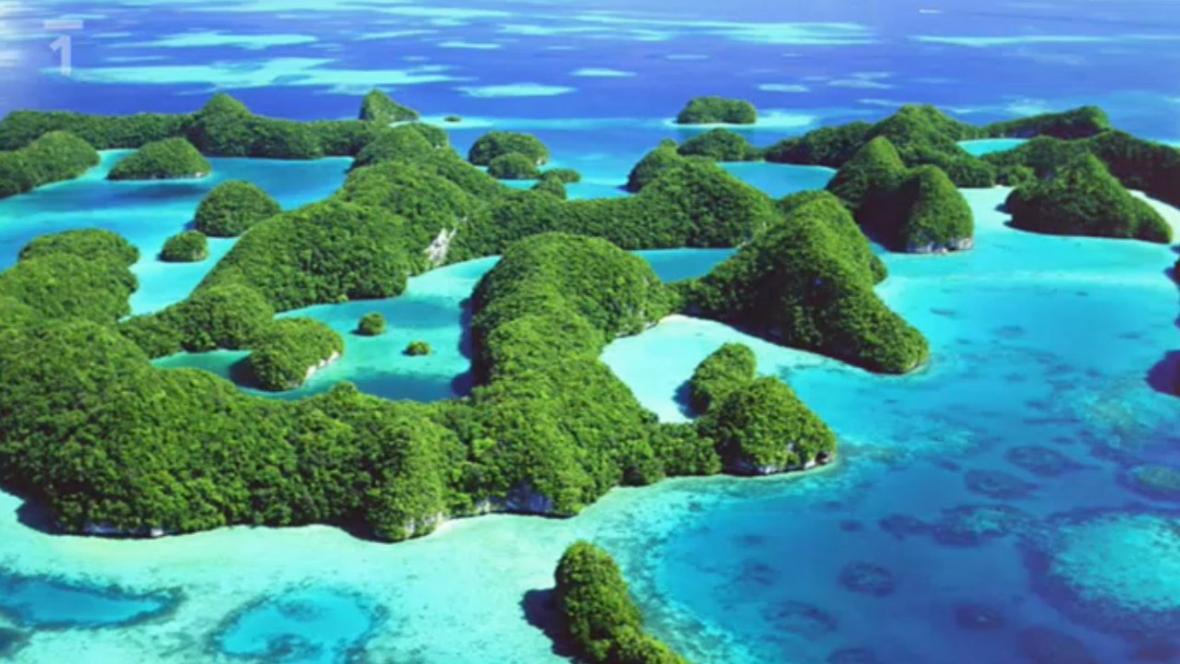 Mikronésie ležící v Tichém oceánu