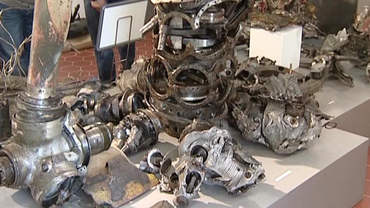 Nalezené kusy německé stíhačky