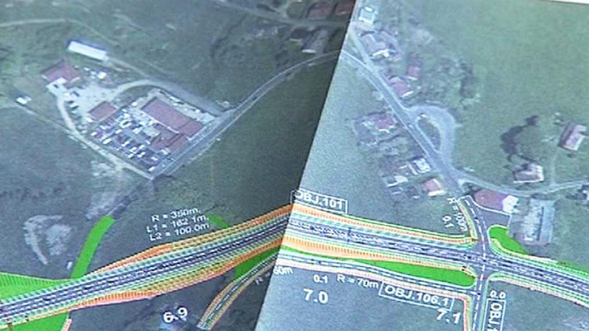 Plán dostavby silnice mezi Libercem a Jabloncem nad Nisou