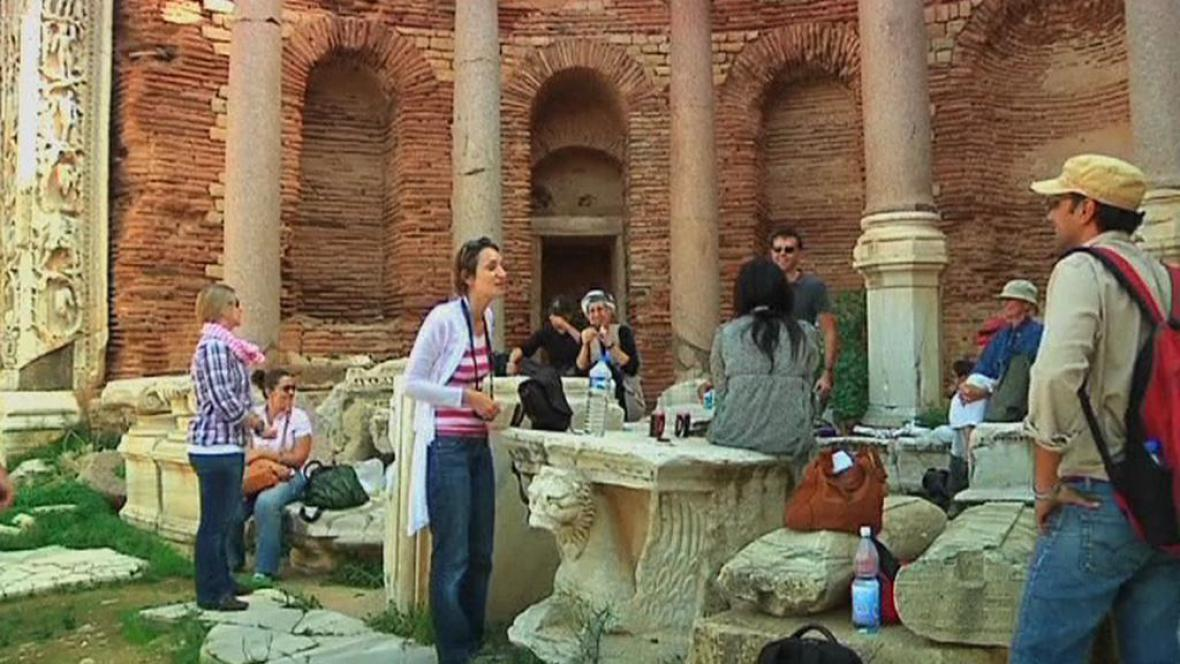 Turisté v Libyi