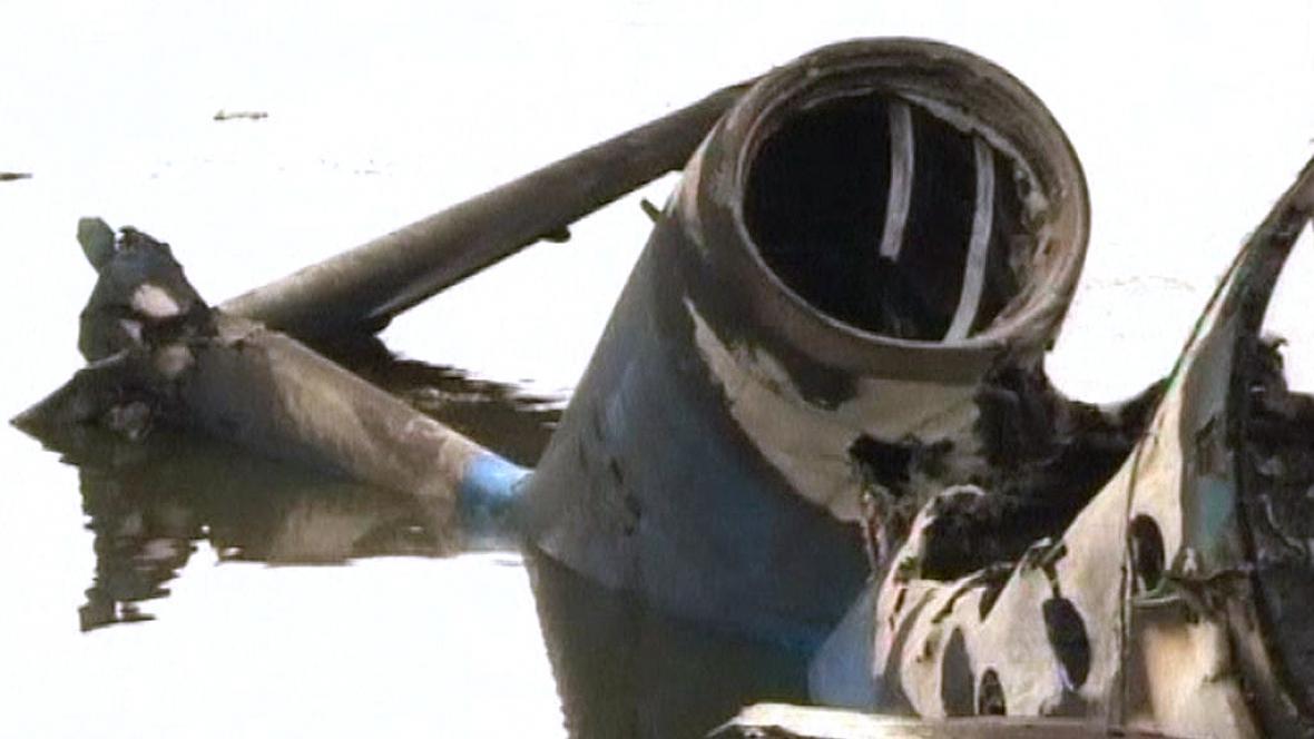 Trosky letadla v Jaroslavli