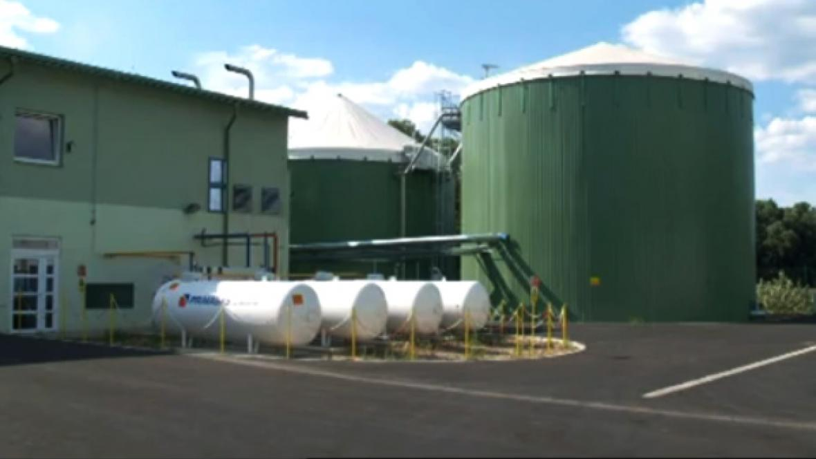 Projekt bioplynové stanice v Šenově