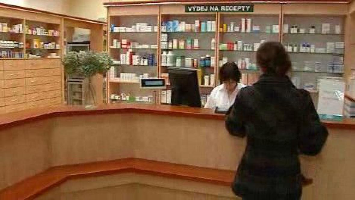 Pacientka v lékárně