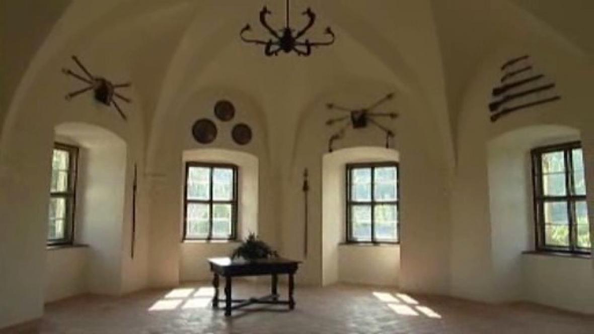 Rytířský sál na hradě Sovinec