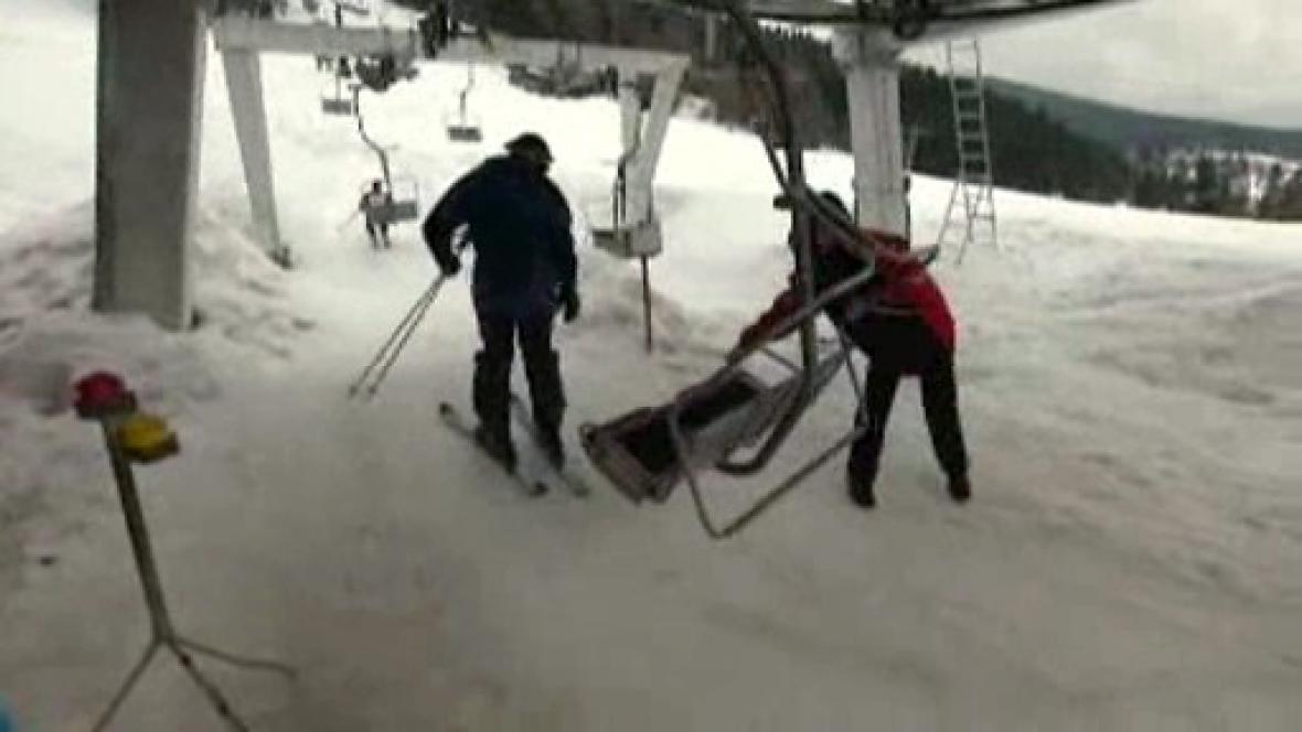 Vlek v lyžařském areálu Rališka