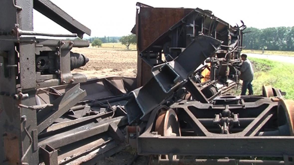 Havarované vagóny zmizí