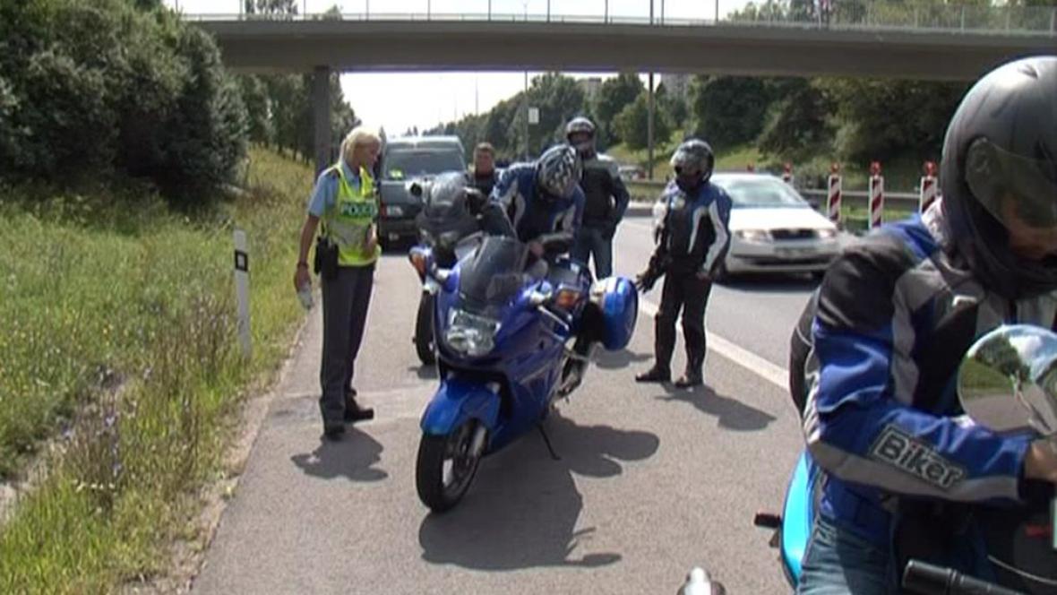 Silniční kontrola motocyklistů