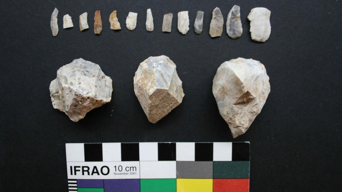 Zachráněné nálezy z archeologické lokality