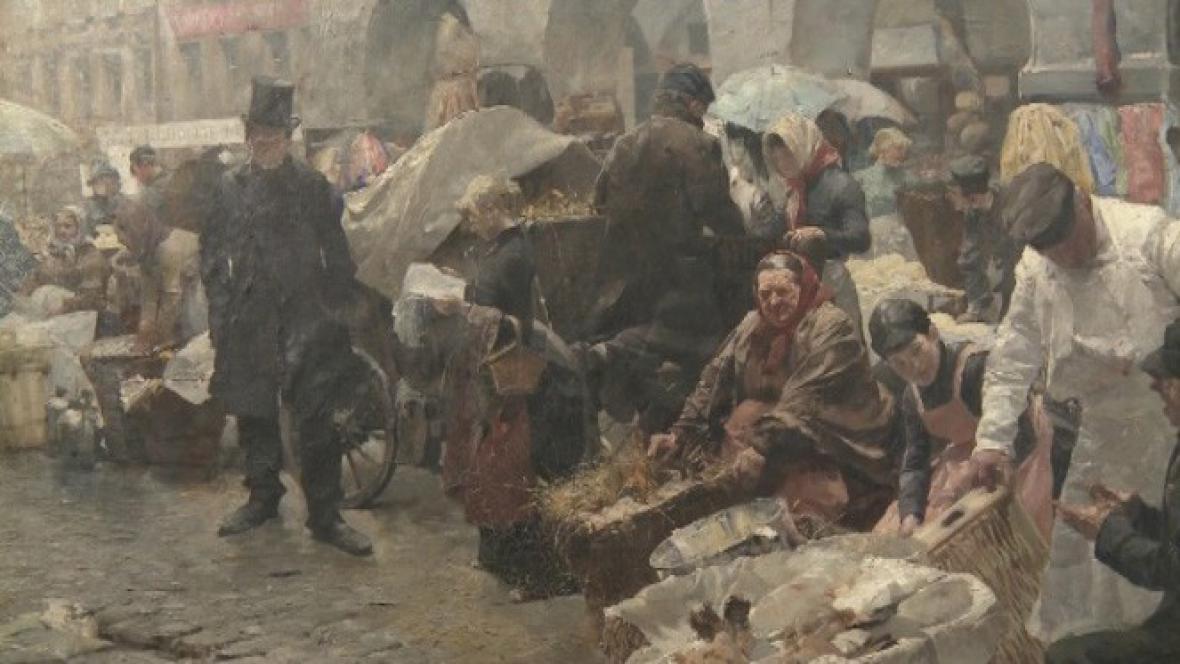 Luděk Marold / Vaječný trh v Praze (detail)