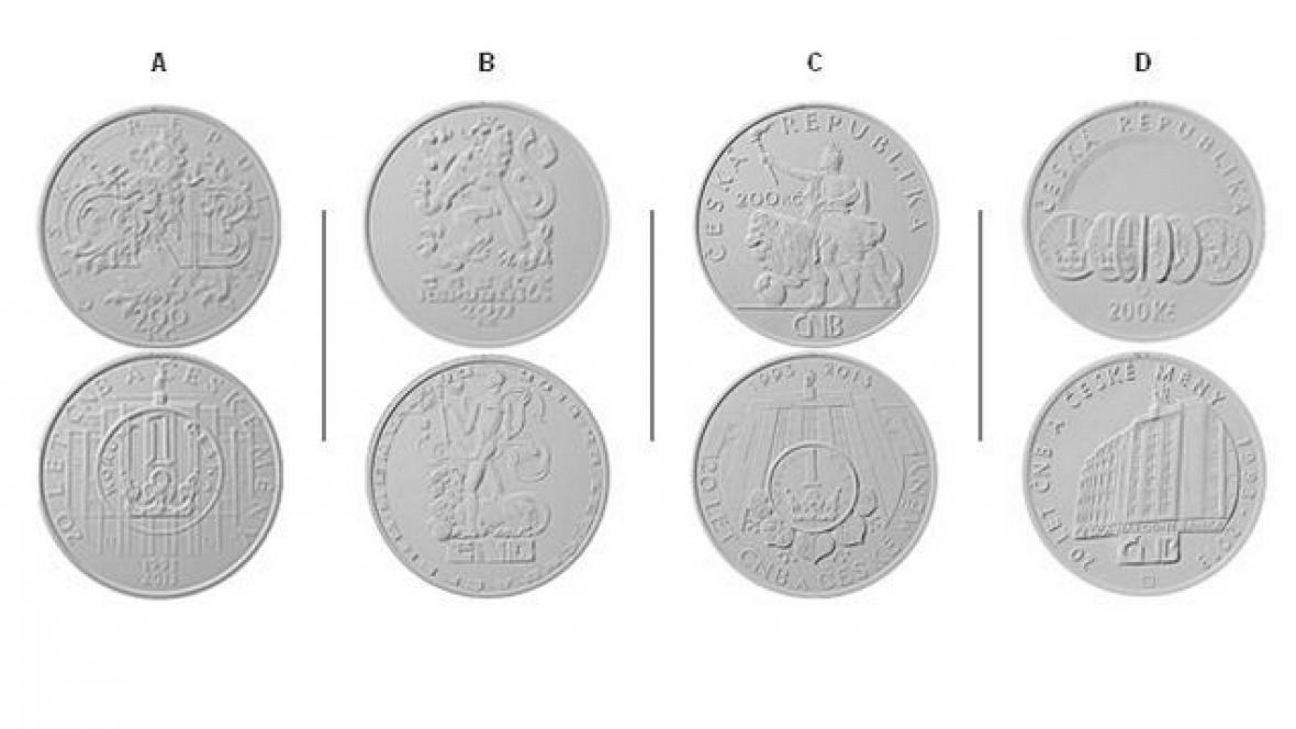 Výroční mince k 20 letům ČNB a české měny