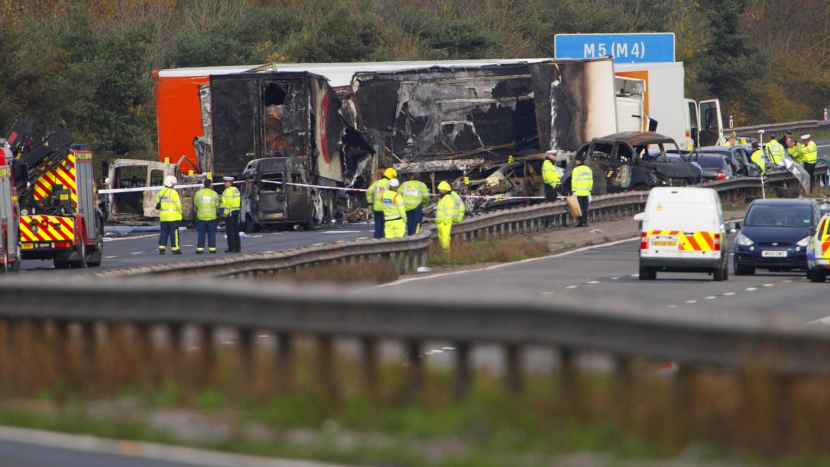 Nehoda na britské dálnici