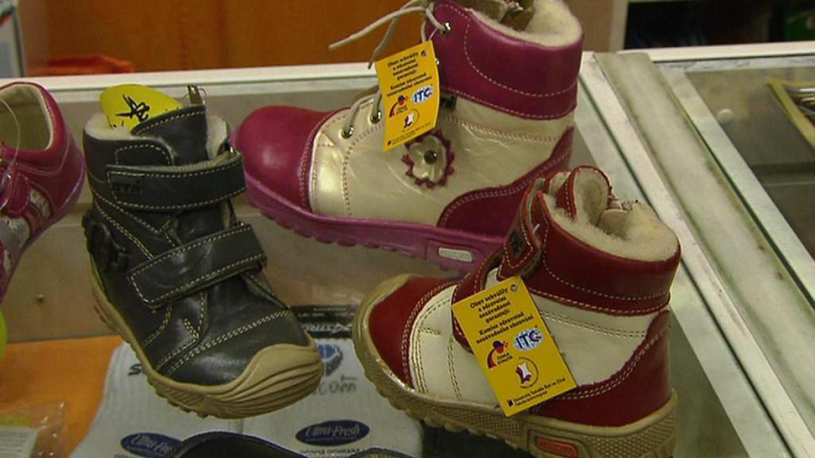 Dětské boty oceněné značkou Česká kvalita