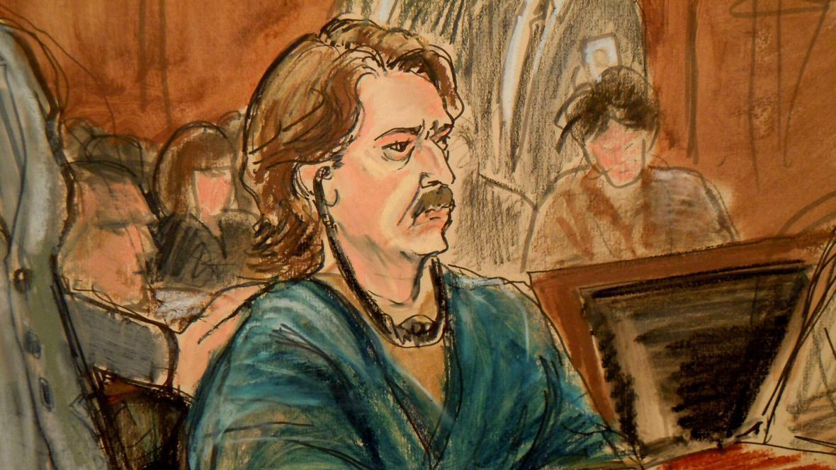 Soudní kresba Viktora Buta