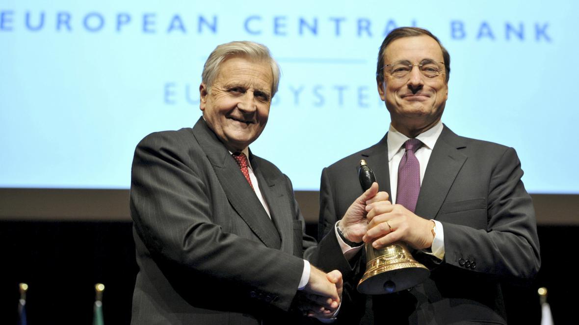 Jean-Claude Trichet a Mario Draghi