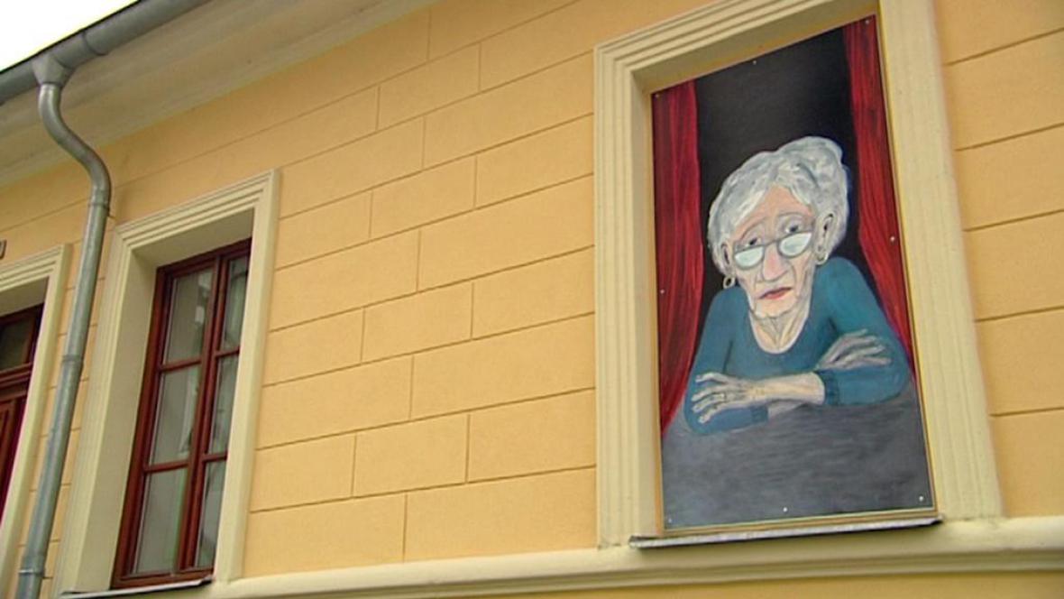 Obraz v zazděném okně