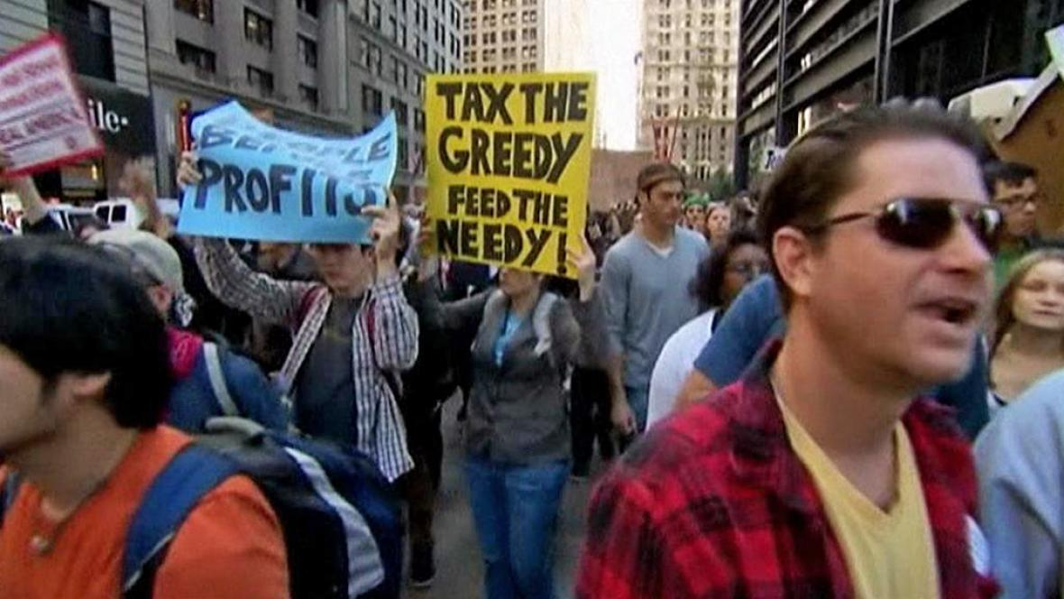 Protest na Wall Streetu