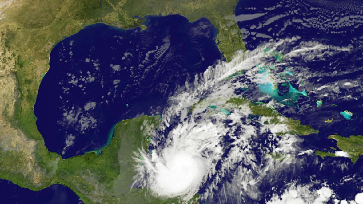 Hurikán Rina nad Mexikem