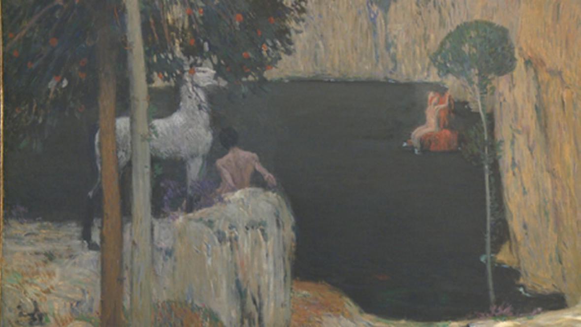 Jan Preisler / Černé jezero (detail)