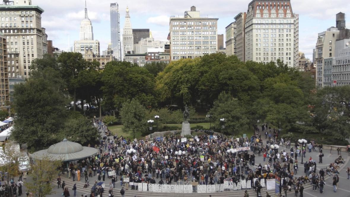 Demonstrace v New Yorku