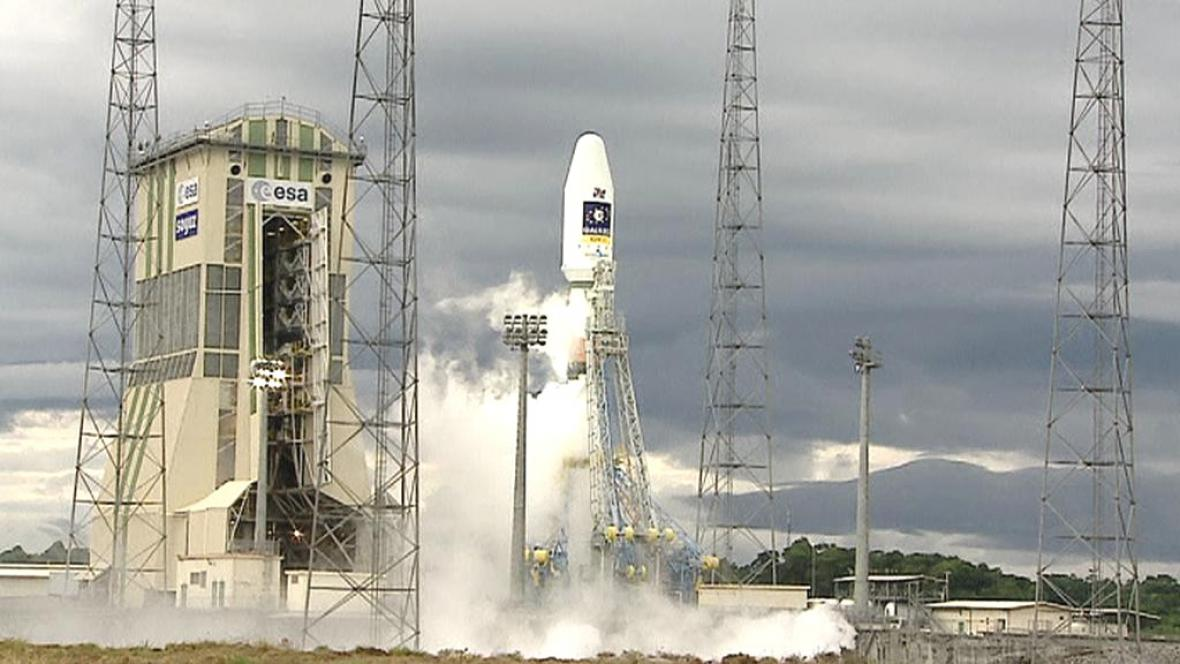 Start družice Galileo