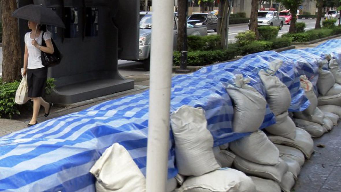 Protipovodňové zábrany v Bangkoku
