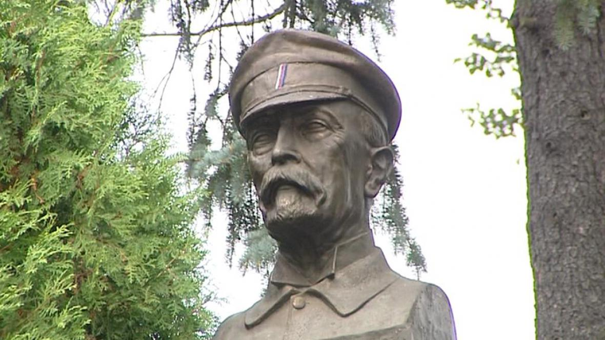 Plastová busta T. G. Masaryka