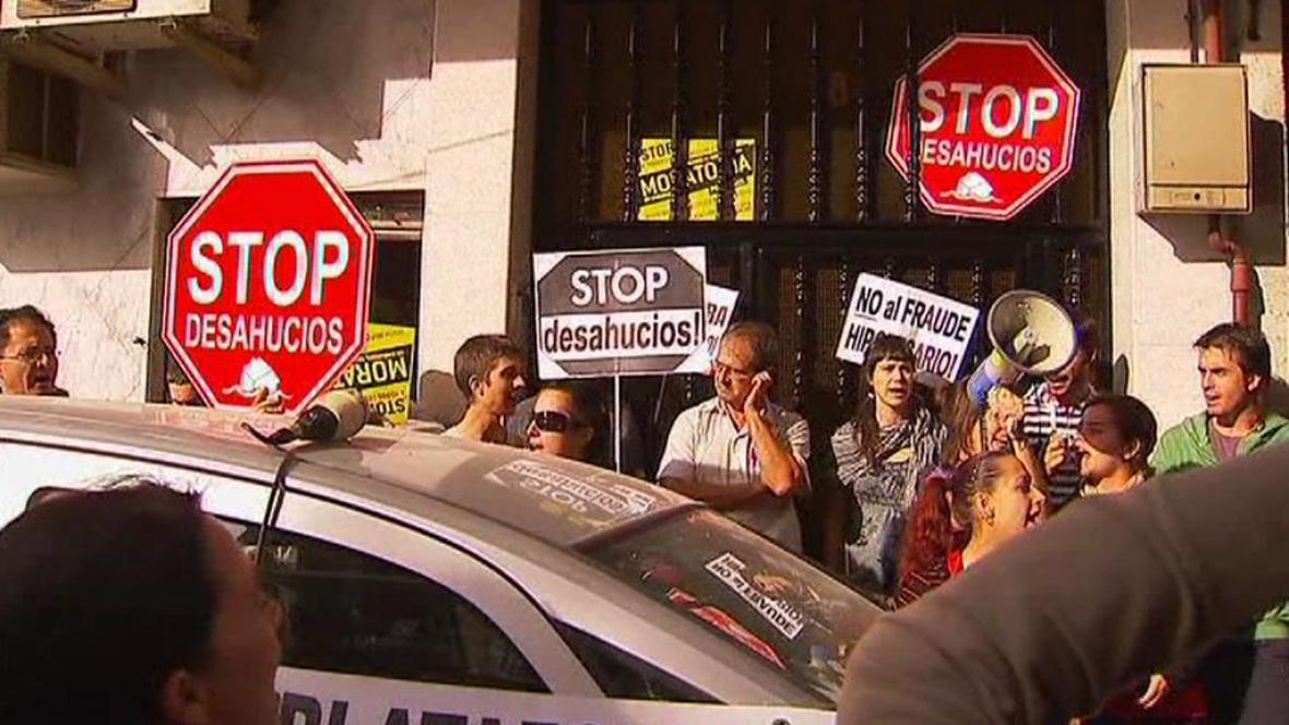 Aktivisté ve Španělsku