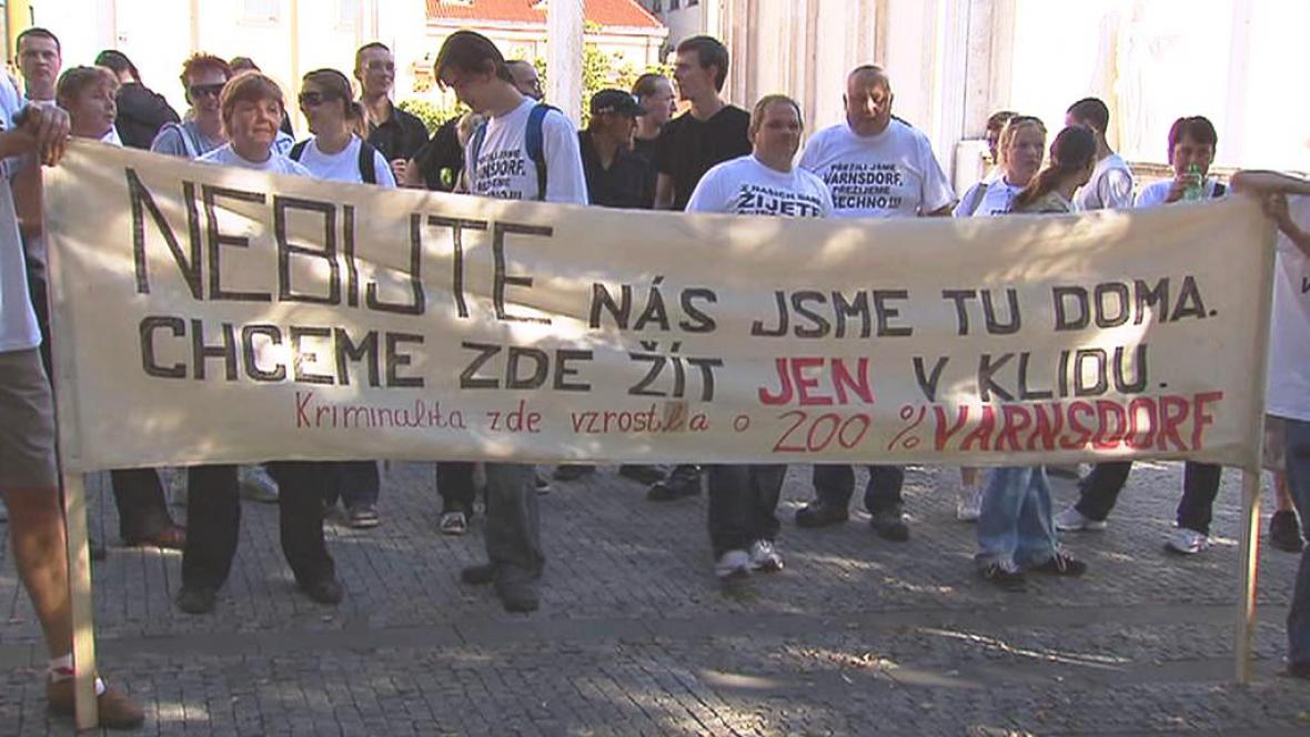 Varnsdorfští demonstranti