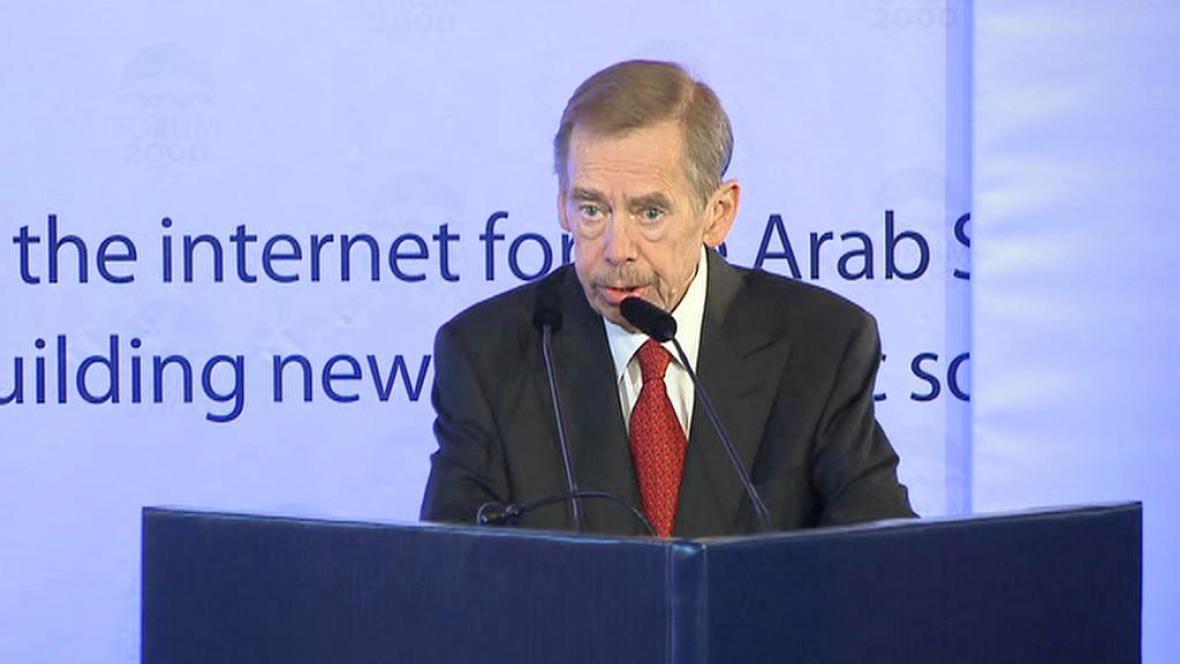 Václav Havel na konferenci Forum 2000