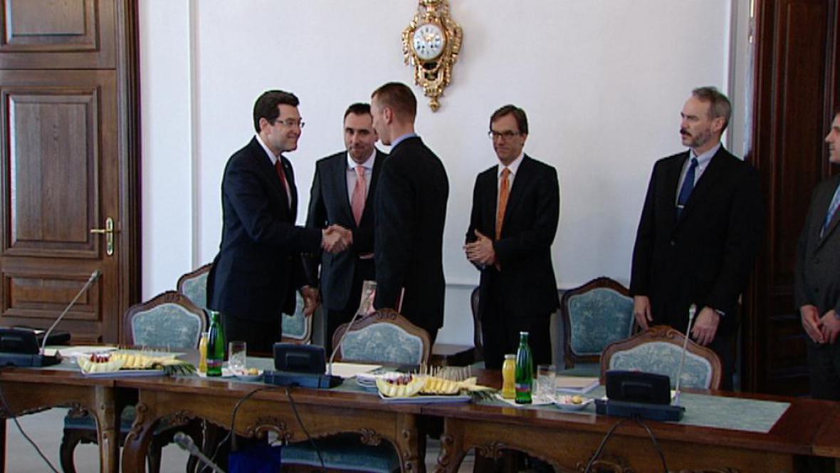 Setkání diplomatů s Normanem Eisenem